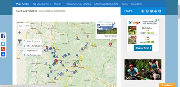 Mapa-Guía del Eje Cafetero
